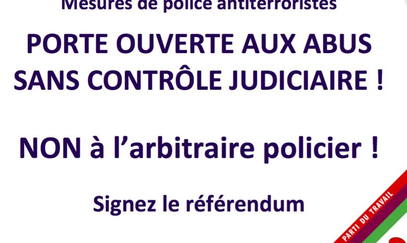 Référendum contre la loi sur les mesures policières de lutte contre le terrorisme